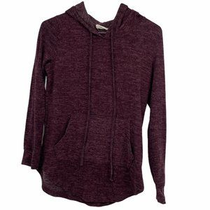Cabin Fever maroon cozy hooded pullover sweater